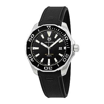 TAG Heuer Aquaracer Reloj de Hombre Cuarzo 43mm Correa de Goma WAY101A.FT6141: Amazon.es: Relojes