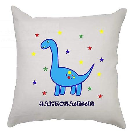 Kooky Kids Funda de cojín de Dinosaurio Personalizada Linda ...