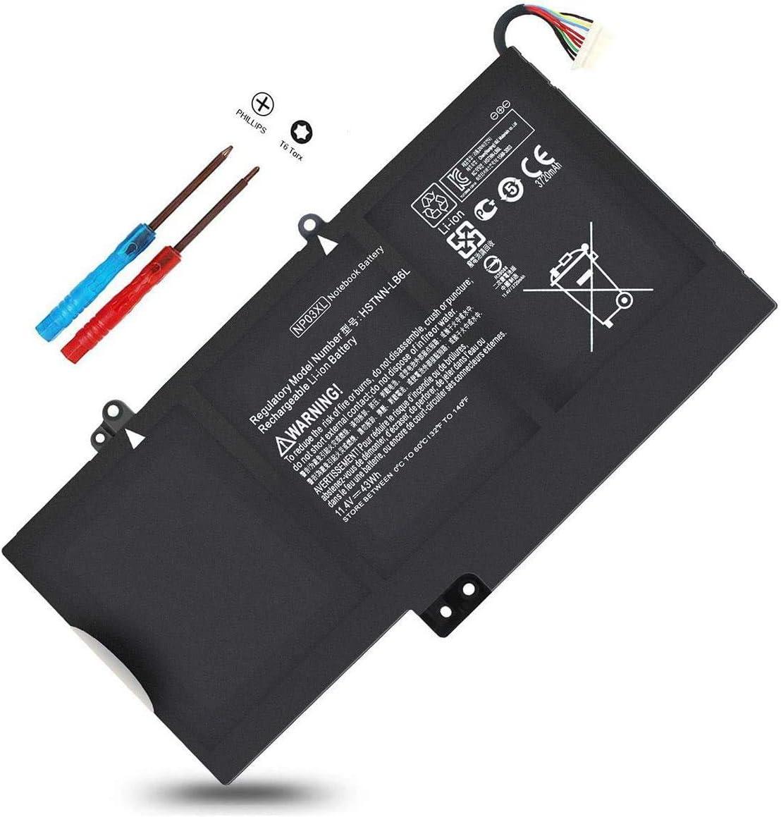 760944-421 NP03XL NPO3XL Notebook Battery for HP Envy 15-U010DX 15-U011DX 15-U110DX 15-U111DX 15-U483CL 15-U493CL,Pavilion X360 13-A010DX 13-A013CL 13-A012DX 13-A110DX 761230-005 TPN-Q147 HSTNN-LB6L