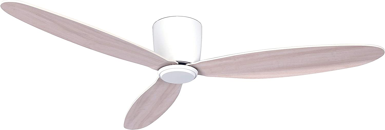 CASA BRUNO Radar Hugger DC-ventilador de techo Ø 132 cm, blanco - ideal para techos bajos: Amazon.es: Iluminación
