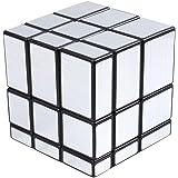 Meily ルービック ミラーブロックス  立体パズル 3×3×3 スピードキューブ 57mm 全面銀色 不規則な形のキューブ (銀)