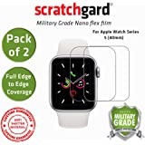 Scratchgard 2 Pack i Watch Series 5 40mm Unbreakable Nano Glass Full Edge to Edge Cover Film Screen Protector for Apple Watch Series 5 40mm (Pack of 2)