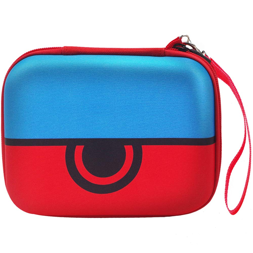 Comecase Hard Carrying Case Compatible with Pokemon Trading Cards, Card Game Holder Storage Holds Up to 400 Cards. Removable Divider and Hand Strap Offered