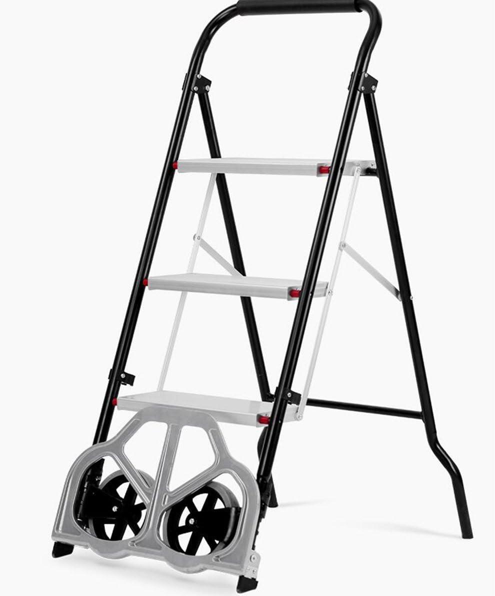 DELLT- Inicio multipropósito Plegable Escalera de Hombre Escalera de Tres escalones supermercado Furgoneta de la casa Escalera de la construcción Mano - Tire del Coche: Amazon.es: Juguetes y juegos