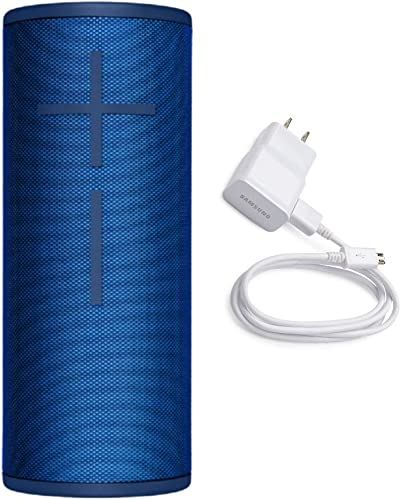 Ultimate Ears Boom 3 Wireless Bluetooth Speaker Lagoon Blue with Fast Charging Wall Charger Bundle