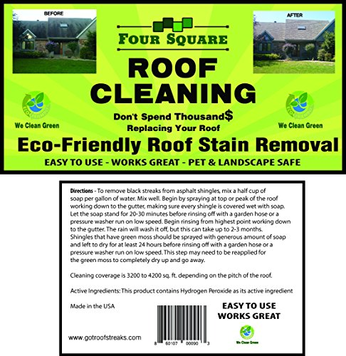 Four Square Roof Cleaning Professional Grade Roof Cleaner