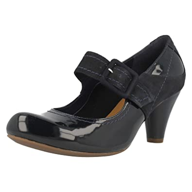 2276eb6212e3 Ladies Clarks Smart Mary Jane Shoes Coolest Berry Navy Combi Size 6D ...