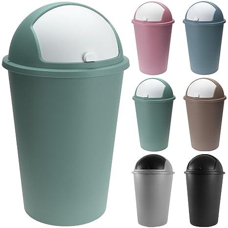 Cubo de basura 50 litros Push Can - Tapa deslizante - 68 x ...