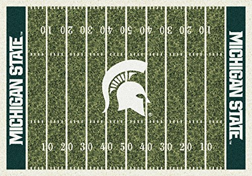 Michigan State Spartans NCAA College Home Field Team Area Rug (Michigan State Spartans Rug)