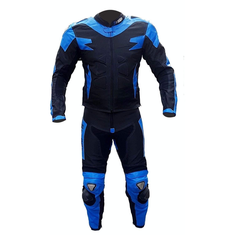 regulable completa de protecciones CE negro//rojo, 3XL divisible en 2/piezas Chaqueta y pantal/ón color Negro//Rojo tallas XS/-/4/XL BIESSE/-/Traje de Moto para adulto de piel y Tejido