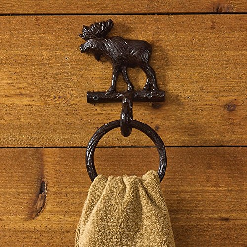 Park Designs Cast Moose Towel Ring Hook