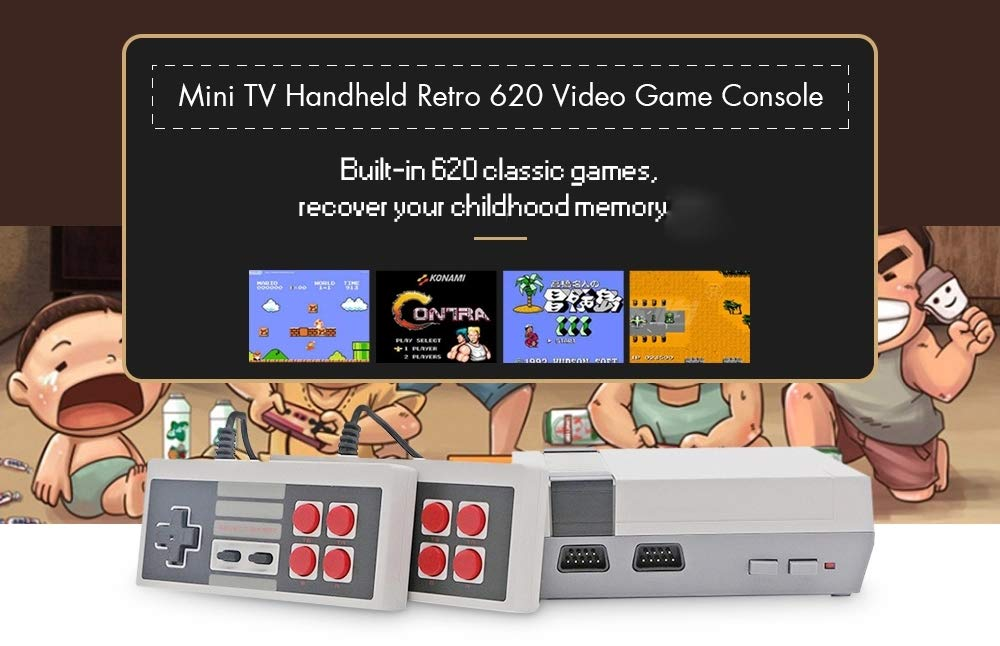 Mini Retro Classic Video Game Console Built-in 620 Games 8 Bit PAL&NTSC Family TV Handheld Game Player Double Gamepads by Dapool (Image #2)