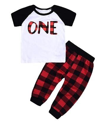 73326ac14 Amazon.com: 3Pcs Baby Boy Girl Cotton T-Shirt Clothes Long Sleeve ...
