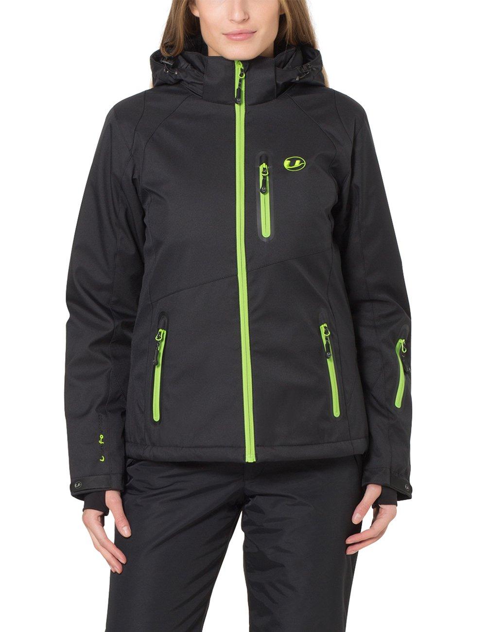 Noir Vert XL Ultrasport Softshell Veste Serfaus avec UltrafFaible por  Femme