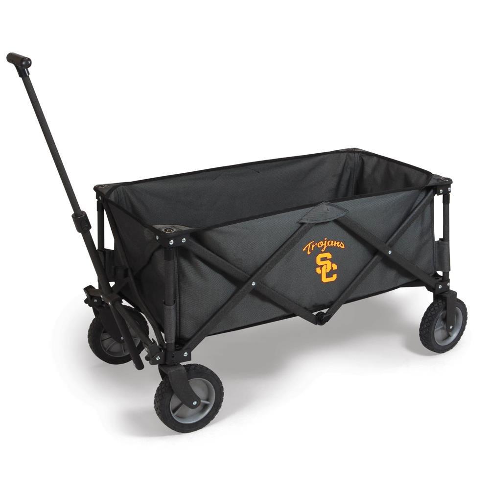 PICNIC TIME NCAA USC Trojans Adventure Digital Print Wagon, One Size, Dark Grey/Black