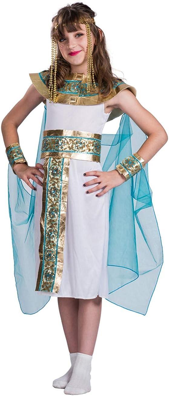 A&J DESIGN Disfraz Reina Egipcia Niña Traje del Nilo (Cleopatra, M ...