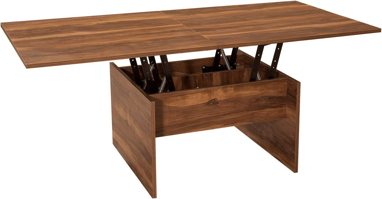 Amazon Com Karizma Lift Top Coffee Table By Turnada Brown Coffee Table Lift Up Sturdy Stable Space Saving Living Room Lift Top Coffee Dining Table Modern Contemporary Dining Computing Crafting Furniture Kitchen Dining [ 654 x 1246 Pixel ]