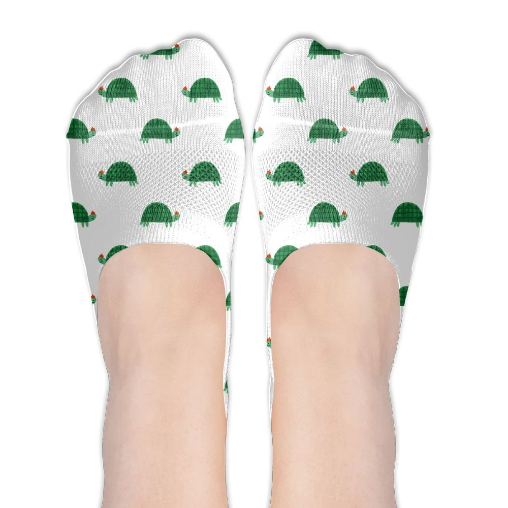 Green Cute Turtle Cool Socks No-Show Casual Stance Low