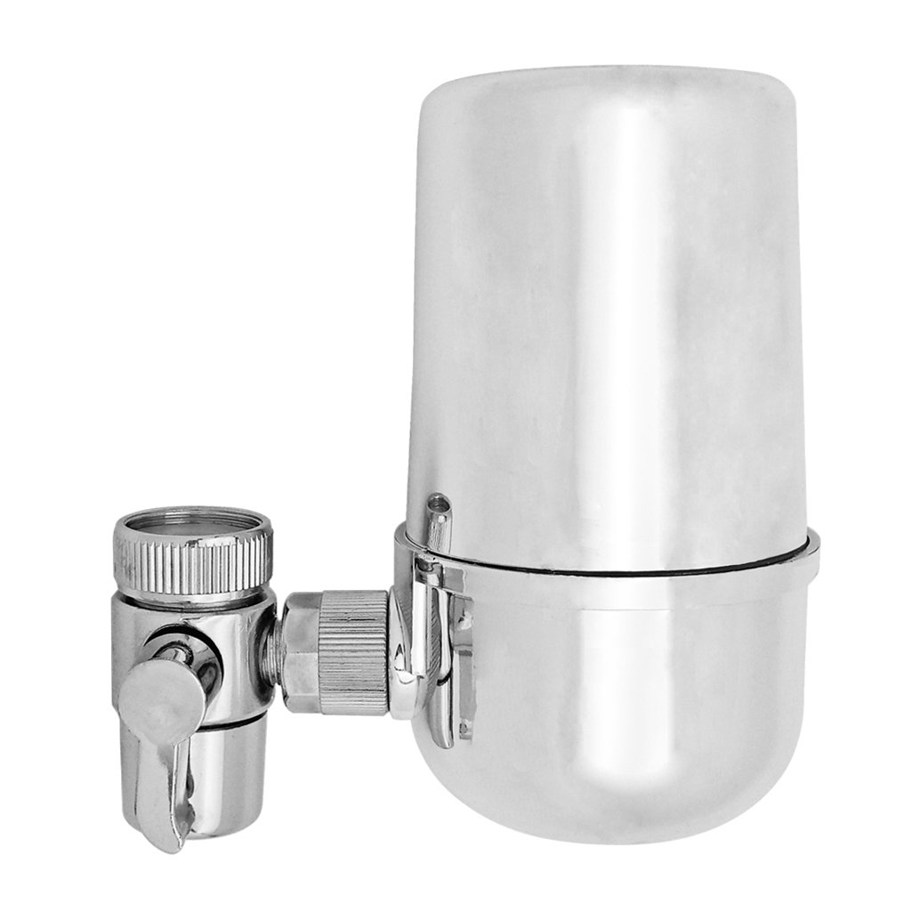 Kabter Swivel Tap Water Purifier Faucet Mount Water Filter System,Polished Chrome