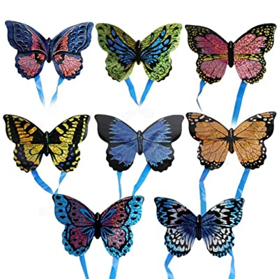 Kekailu Mini Kite,Insect Butterfly Plane Outdoor Sports Mini Kite Children Interactive Flying Toy,Butterfly Random Style&Color: Home & Kitchen