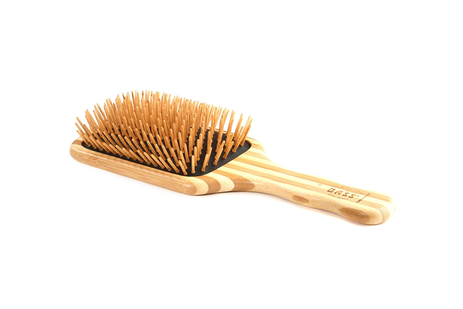 Bass Brushes | The Green Brush | Bamboo Pin + Bamboo Handle Hair Brush | Large Paddle