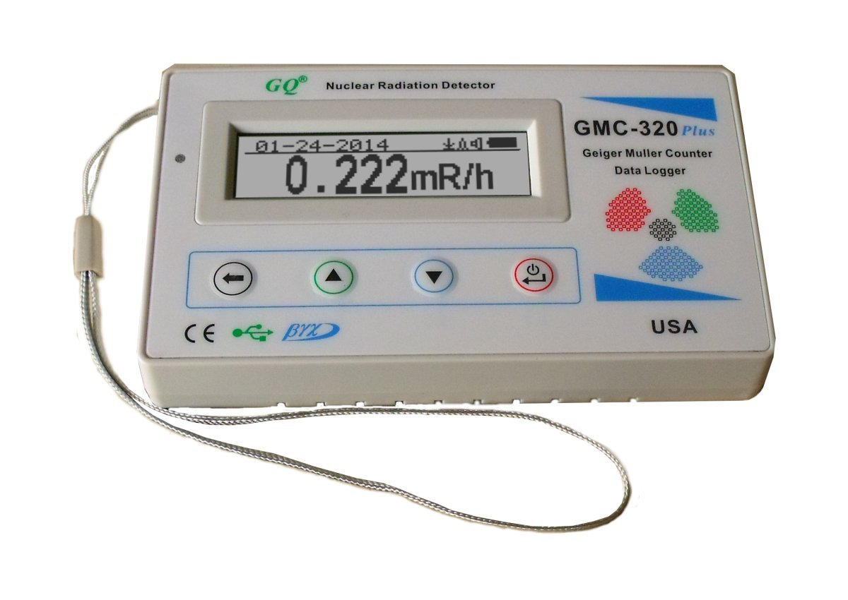 New GQ GMC-320 Plus Geiger Counter Nuclear Radiation Detector Data Recorder Beta Gamma x-Ray test equipment