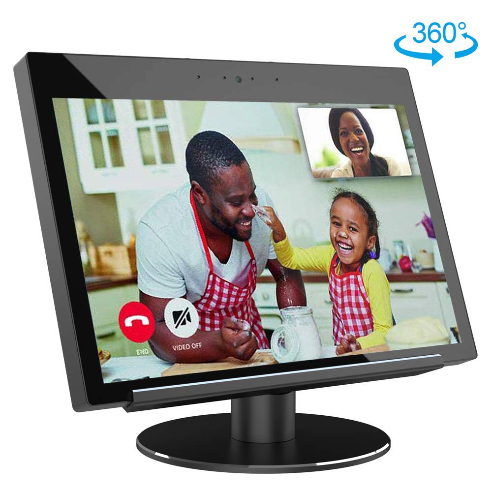 Adjustable Stand for Echo Show 2nd Generation, Aluminum Stand Protector for Amazon Echo-Show, Horizontal 360 Rotation Tilt Stand with Precision Bearing, Black