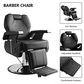 Surprising Amazon Com Goujxcy Hydraulic Recline Barber Chair Salon Gmtry Best Dining Table And Chair Ideas Images Gmtryco