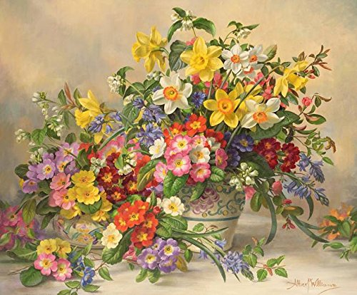 Imagekind Wall Art Print entitled AB/296 Spring Flowers And Poole Pottery By A. Will by The Fine Art Masters | 10 x 8