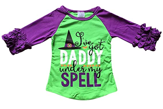 ab7ffa937 BluNight Collection Little Girl Kids I've Got Daddy Under My Spell Shirt  Top Tee