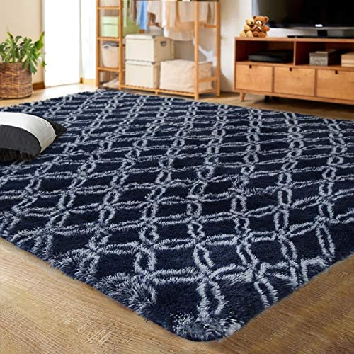 LOCHAS Luxury Velvet Shag Area Rug Indoor Plush Fluffy Rug