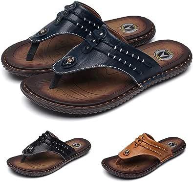 gracosy unisex vuxna sandaler, herr tånstenn platta sommarskor antihalk tofflor Comfort Outdoor sandaler sommar strandskor svart blå brun, MEHRWEG