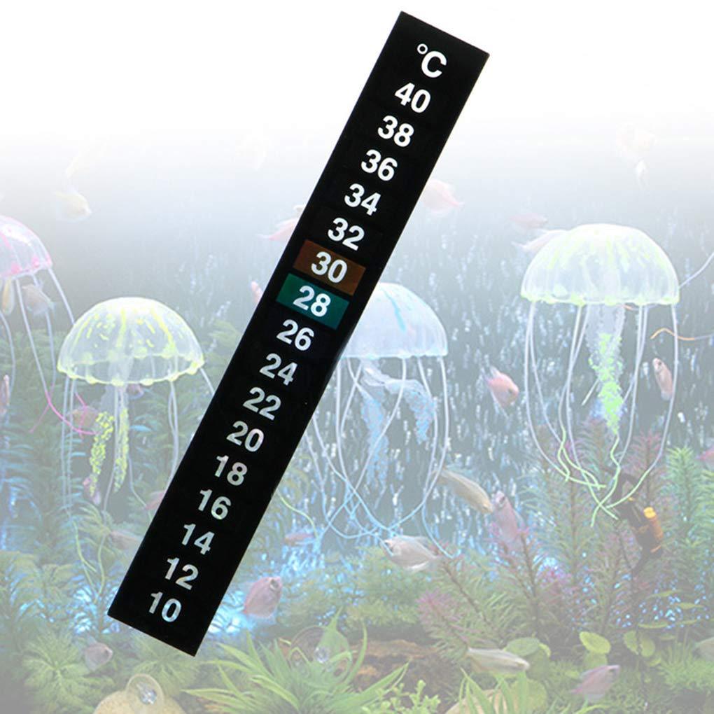 Flushzing 2ST Aquarium Papier Thermometer Temperaturanzeige Adhesive Sticker Aufkleben auf 10-40 /° C Celsius