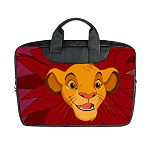 INSTALL AND EASY TO CARRY Wear& Slim &Dapper The Lion King Custom Waterproof Nylon Bag for Laptop 17 Inches(Twin sides)