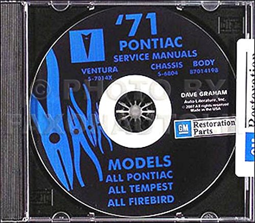 - 1971 PONTIAC REPAIR SHOP & SERVICE MANUAL & FISHER BODY MANUAL CD - Catalina Brougham, GTO, Tempest, LeMans, Grand Prix, Formula, Esprit, Firebird, Trans Am, Grand Safari, Grandville, Ventura II