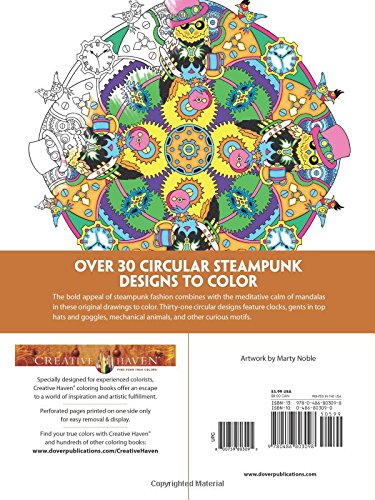 Amazon Creative Haven Steampunk Mandalas Coloring Book Adult 9780486803098 Marty Noble Books