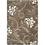 Cheap Safavieh Florida Shag Collection SG464-7913 Smoke and Beige Area Rug (2'3″ x 4′)