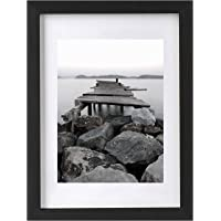 BESLY A3 Picture Frames Black Matted A4 Wooden Picture Frame Poster Frame Document Diploma and Certificate Frame for…