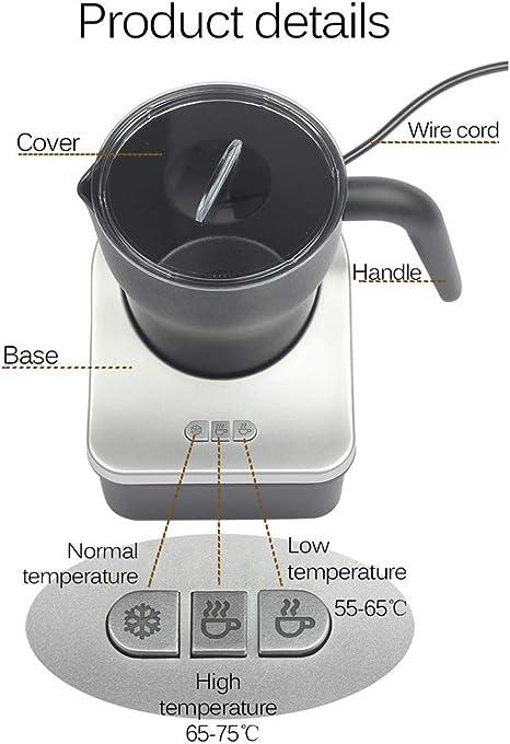 Desmontable de espuma de leche, inducción eléctrica Batidor de ...