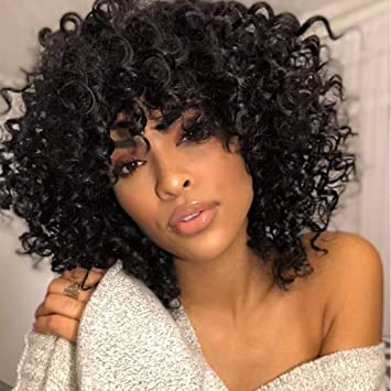 HairUGo Short Curly Wigs, Natural Curly 1