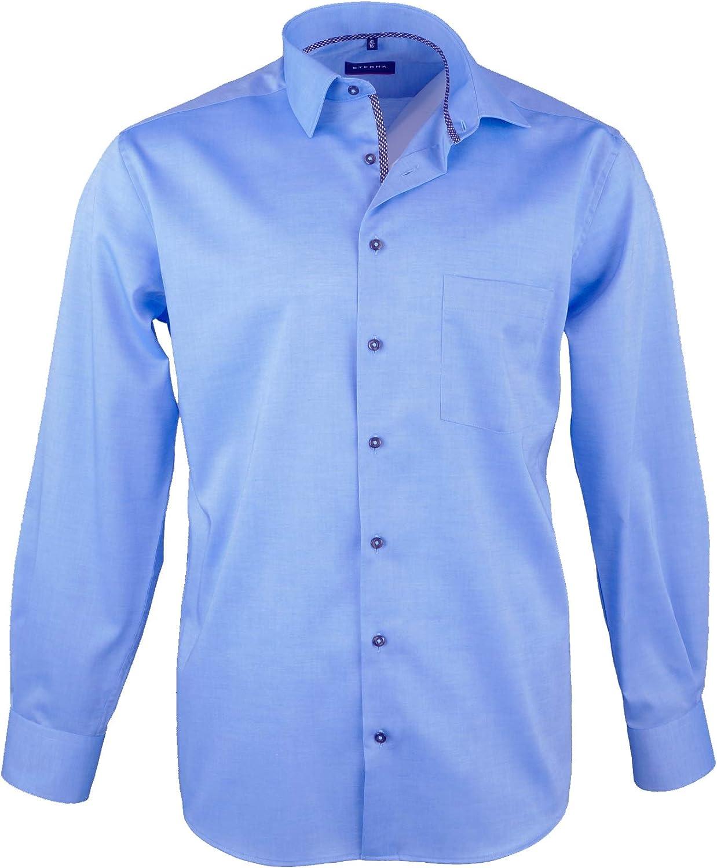 ETERNA Chemise Comfort Fit aussi grande taille uni bleu foncé 65 cm bras 8819//19 e18v