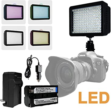 160 Dimmable Ultra Photography 160 LED Studio Lighting Kit for Canon Nikon Sony