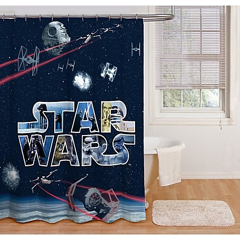 Jay Franco and Sons Star Wars Space Battle 72-Inch Shower (Franco Shower Curtain)