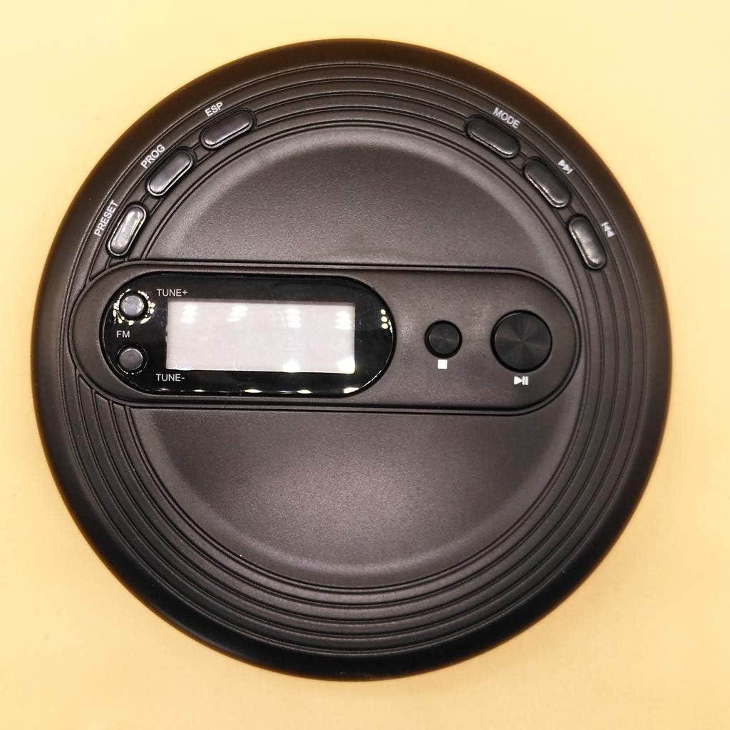 xutu CD-Player Tragbare CD-Player Black Music Student English CD-Player ESP Sto/ßfest FM-Radio-Funktion USB-Lagen-LCD-Display-CD-Maschine Walkman