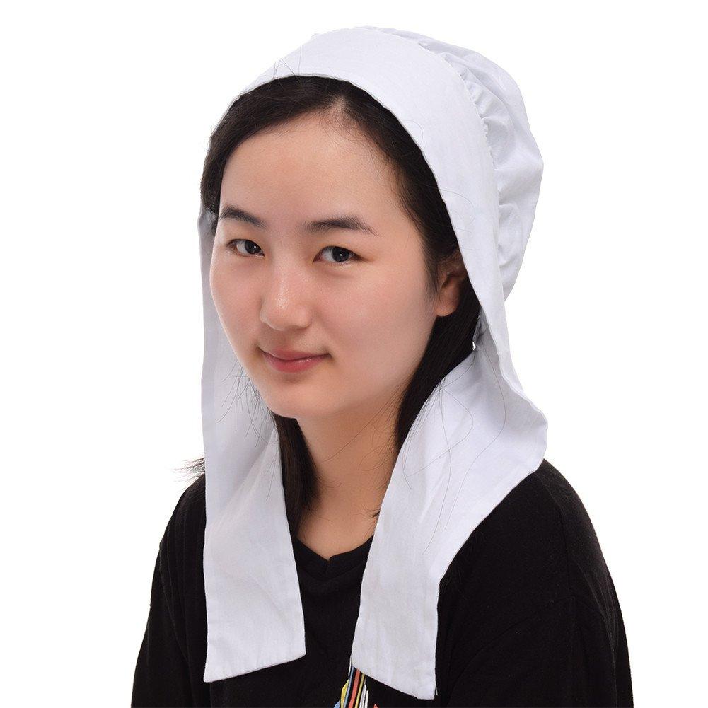 GRACEART Women's Mob Cap Bonnet Colonial Costume Accessory 100% Cotton (Style-4)