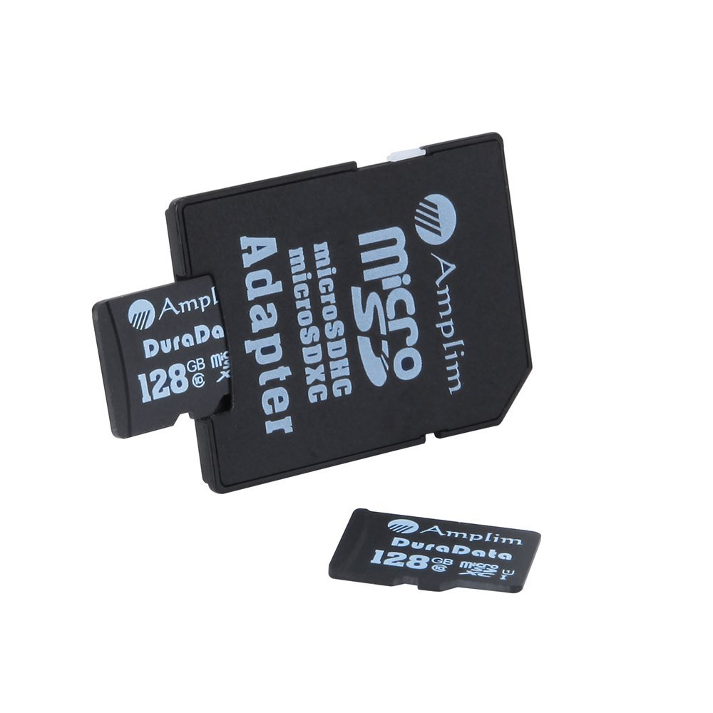 Amplim 2X 128GB Micro SD SDXC Memory Card Plus Adapter Pack (Class 10 UHS-I U1 MicroSD XC Extreme Pro) 128 GB Ultra High Speed 90MB/s 600X Read UHS-1 MicroSDXC Flash. Cell Phone Tablet Camera 128G TF by Amplim (Image #2)