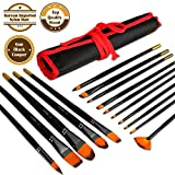 Artify 15 Pcs Professional Grade Paint Brush Set for Acrylic Oil Watercolor Gouache and Face Painting  Korean Imported Soft Nylon Hairs  Extra Firm Bristles  Including a Free Carrying Pouch