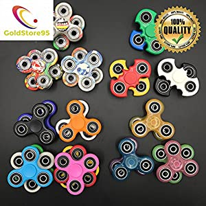 (GoldStore95) 100pcs New Styles Fidget Spinner - Stress Reducer Toy for Kids, Students and Adult - Fidget Spinner Color, Camo, Glow in the Dark Fidget toys for Killing Time