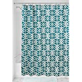 "InterDesign Adele Fabric Shower Curtain - 72"" X 72"", Teal/Sage"