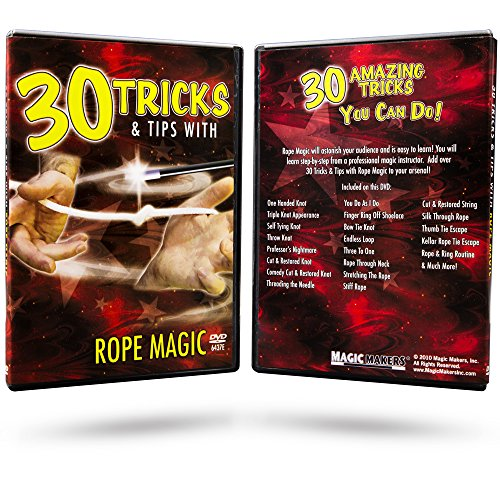 Magic Makers 30 Tricks With Rope Magic - The Complete Course In Rope Magic - Rope Tricks